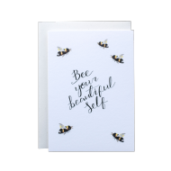 Hidden Pearl Studio 'Bee Your Beautiful Self' Card